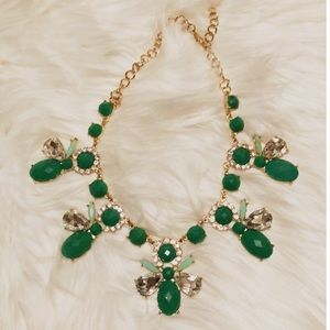 Emerald & Gold Necklace